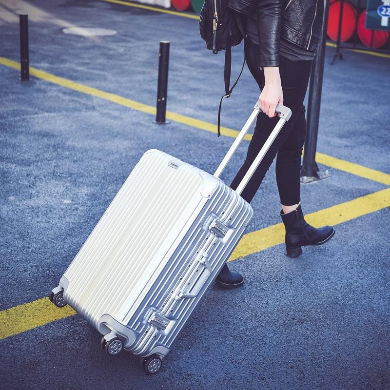 2寸行李箱女万向轮拉杆箱男24寸旅行箱子铝框20密码箱包28寸皮箱6