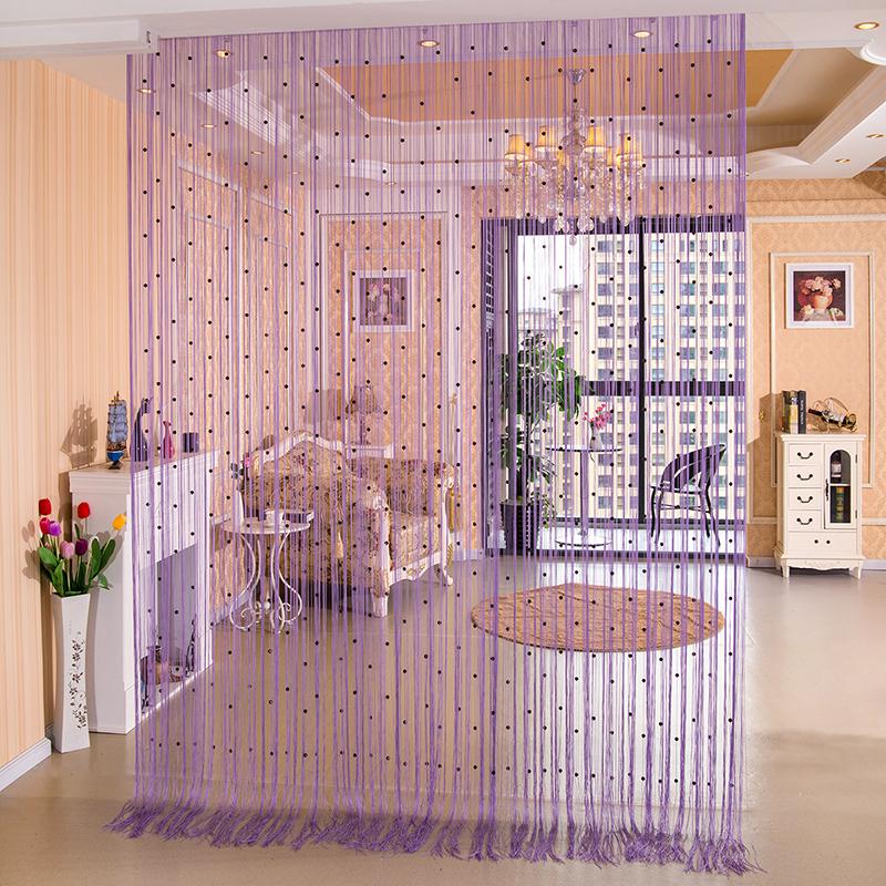 上新欧式水晶珠线帘加密隔断帘装饰客厅卧室玄关门帘珠帘帘子挂帘