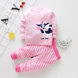 儿童开衫针织衫男女宝宝套装