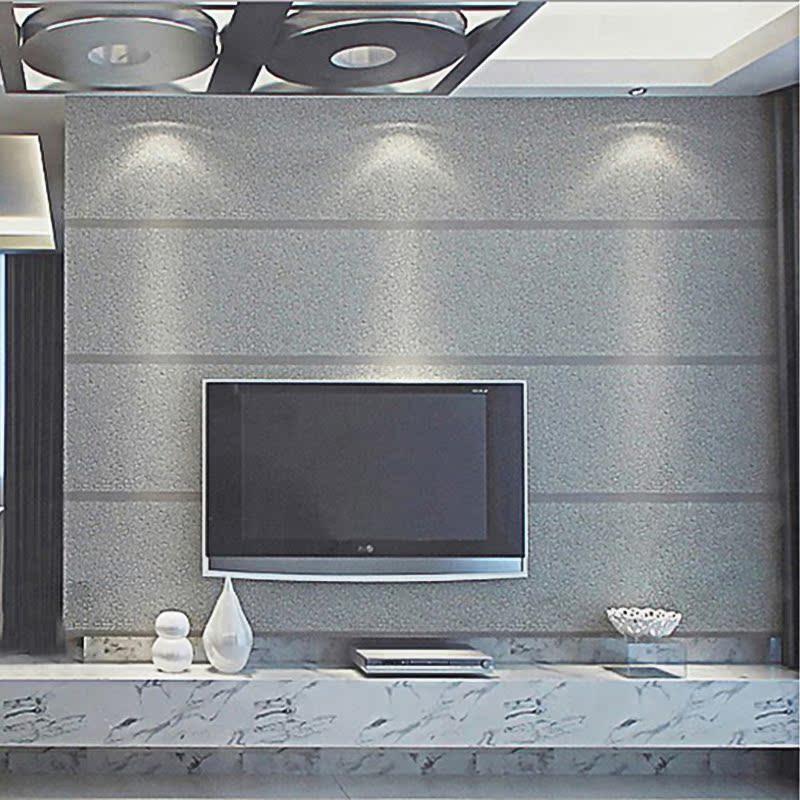 灰色电视背景墙壁纸 横条纹客厅墙纸 现代简约仿石材高档砂岩壁纸