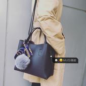 包包女2016新款潮韩版百搭手提包秋冬水桶包单肩包女子母包斜挎包