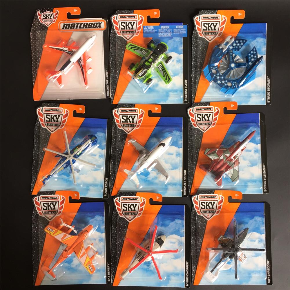 MATCHBOX美泰火柴盒城市英雄合金小飞机模型波音蝙蝠侠台风战斗机