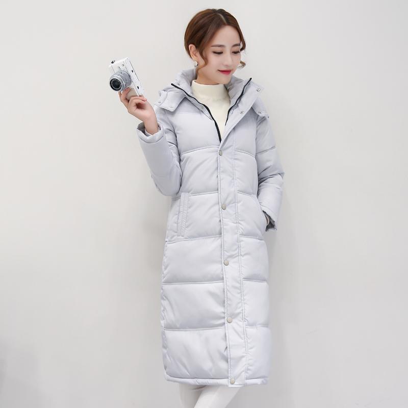 女中冬裝長款外套冬季加厚羽絨清倉棉襖