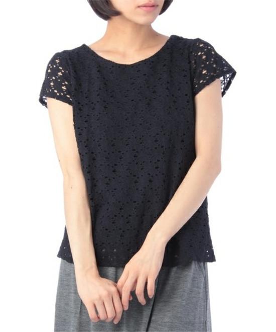 日系品牌INDEX最新款蕾丝上衣