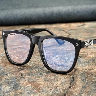 眼镜框男大框克罗心复古板材可配成品近视眼睛女全框薛之谦眼镜架