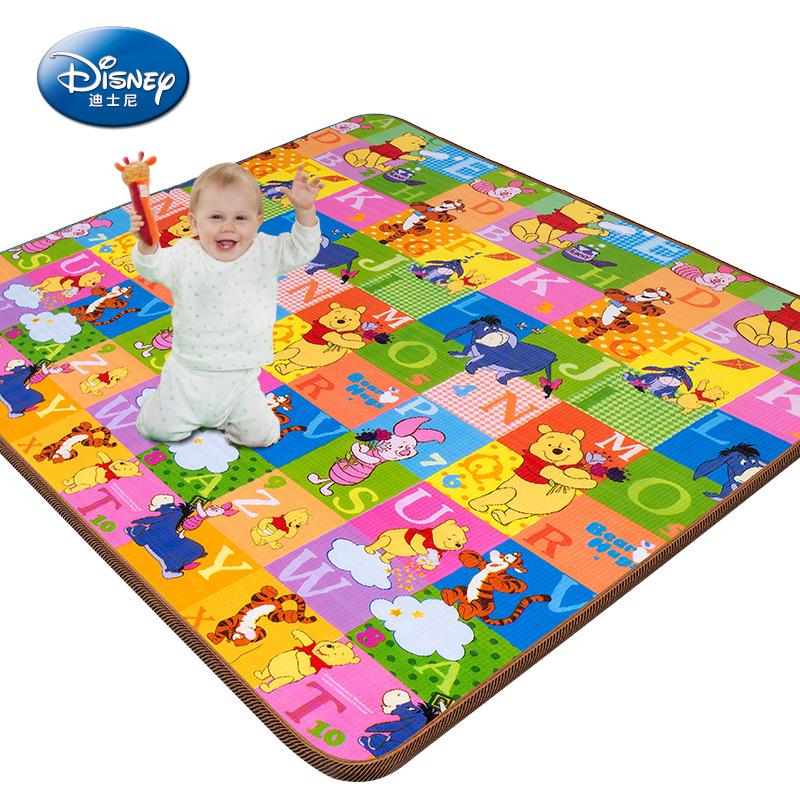 迪士尼婴儿童爬行垫 环保泡沫地垫加厚爬行毯双面游戏爬爬垫包邮