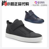 ECCO爱步男鞋17秋冬新款魔术贴高帮休闲鞋530674海外代购正品现货