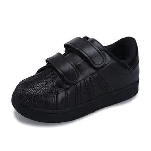女童装小孩鞋子儿童男鞋8男童运动休闲板鞋9男孩秋鞋10女孩12岁黑