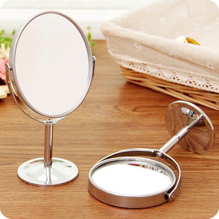 韩版迷你台式化妆镜欧式镜子双面梳妆镜便携公主镜