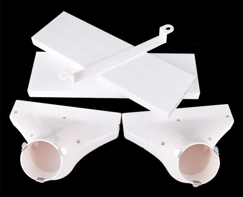室内新风系统ABS过梁器 管道交叉横梁扁管过渡器全热交换器75~160