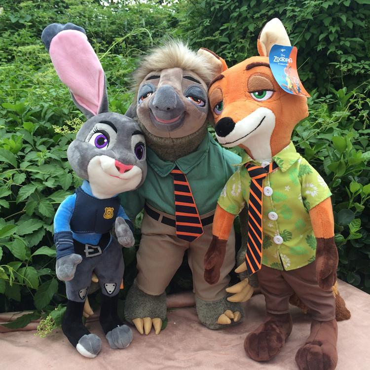 疯狂动物城公仔新款兔子朱迪狐狸尼克毛绒玩具树懒闪