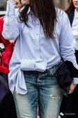 特 限时折扣 不对称大蝴蝶结长袖 衬衫女 打底衫