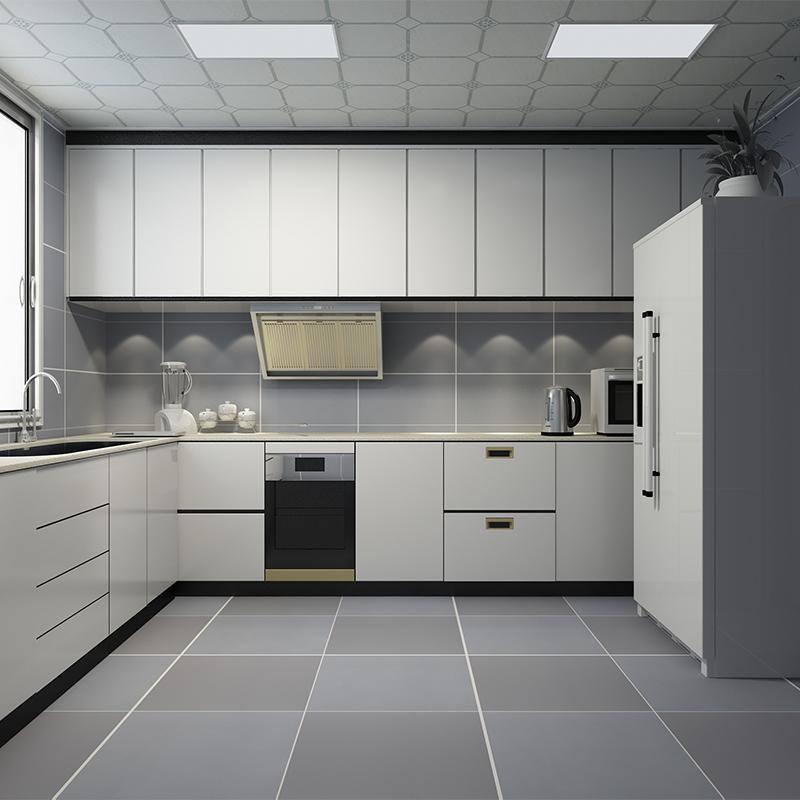现代简约纯灰色地板砖 厨房墙砖 卫生间防滑地砖亚光仿古复古瓷砖图片