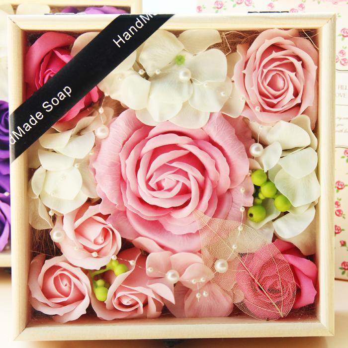 五一活動禮品母親節禮物送媽媽女友實用創意閨蜜生日女生香皂花束圖片