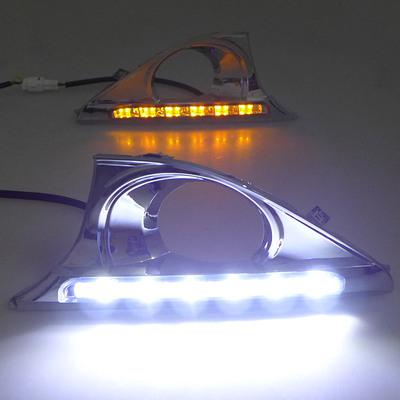 豐田12-14款第7七代凱美瑞日行燈改裝led 霧燈 尊瑞日間行車燈