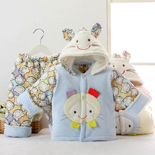 新生儿衣服秋冬季儿童棉服加厚婴儿棉衣棉袄外套男女宝宝套装