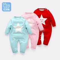 新生儿宝宝连体衣毛衣