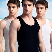 型运动跨栏透气打底汗衫 夏季紧身吊带青年韩版 男士 背心纯棉修身