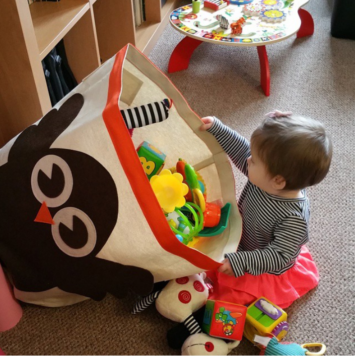 箱储物箱整理儿童玩具收纳牛津筐宜家