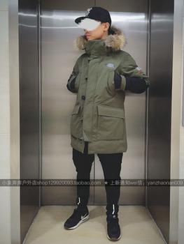 冬季韩国户外加厚羽绒服 男中长
