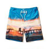 速干沙滩裤 欧美小鹿夏季海边冲浪游泳旅游短裤 潮男宽松大码 AF代购