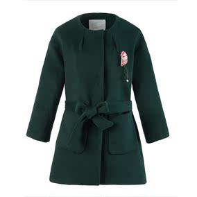 新款毛呢外套女中长款韩版羊毛双面呢子大衣秋夏上衣CWAA54517