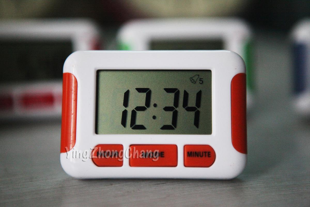 橘红色多组五组闹钟桔色 倒计时器 冰箱贴 吃药喂奶 记忆功能包邮