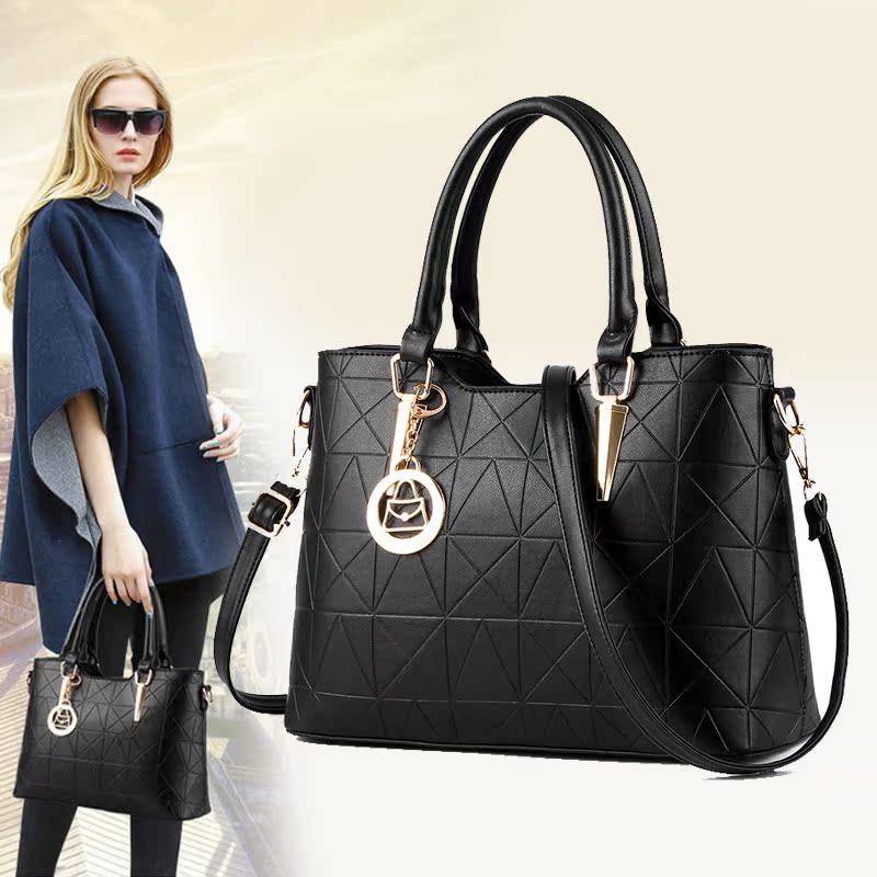 女包2016秋冬新款大包手提包潮时尚欧美OL通勤女士包包单肩斜挎包