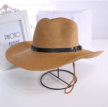 沙滩帽草帽牛仔钓鱼帽大沿帽夏天遮阳帽子男士 礼帽 可折叠情侣款