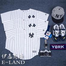 棒球服纽约NY洋基扬基队Yankees儿童装亲子装情侣装运动服短袖T恤