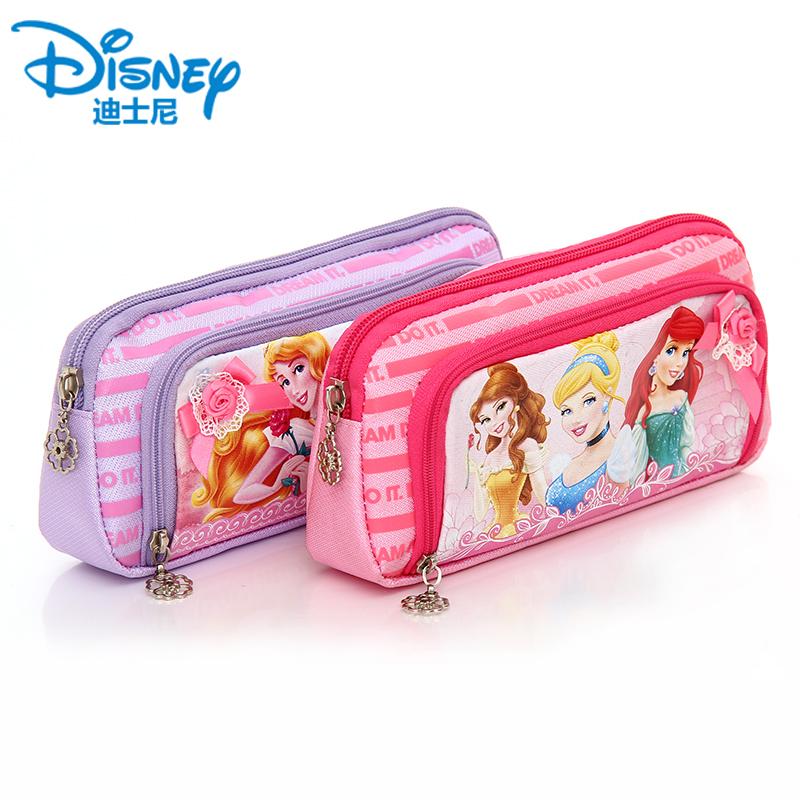 迪士尼文具盒笔袋男女生韩国大容量简约帆布可爱创