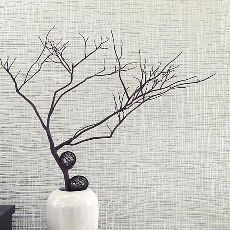 现代简约纯素色无纺布灰色墙纸 卧室客厅工程亚麻餐厅白色壁纸