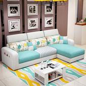 布艺沙发组合可拆洗 简约现代北欧整装小户型客厅转角三人布沙发