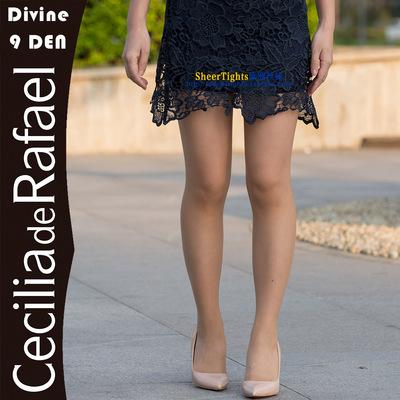 西班牙CdR Divine 9 超薄隐形细腻 全透明哑光 T裆 连裤丝袜