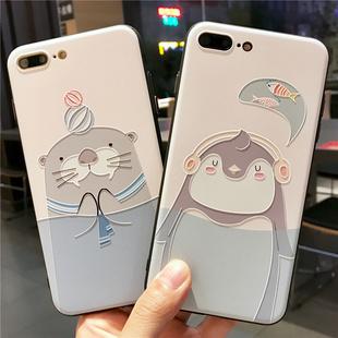 清新苹果7手机壳iPhone6splus硅胶全包磨砂套防摔卡通潮男女款i8