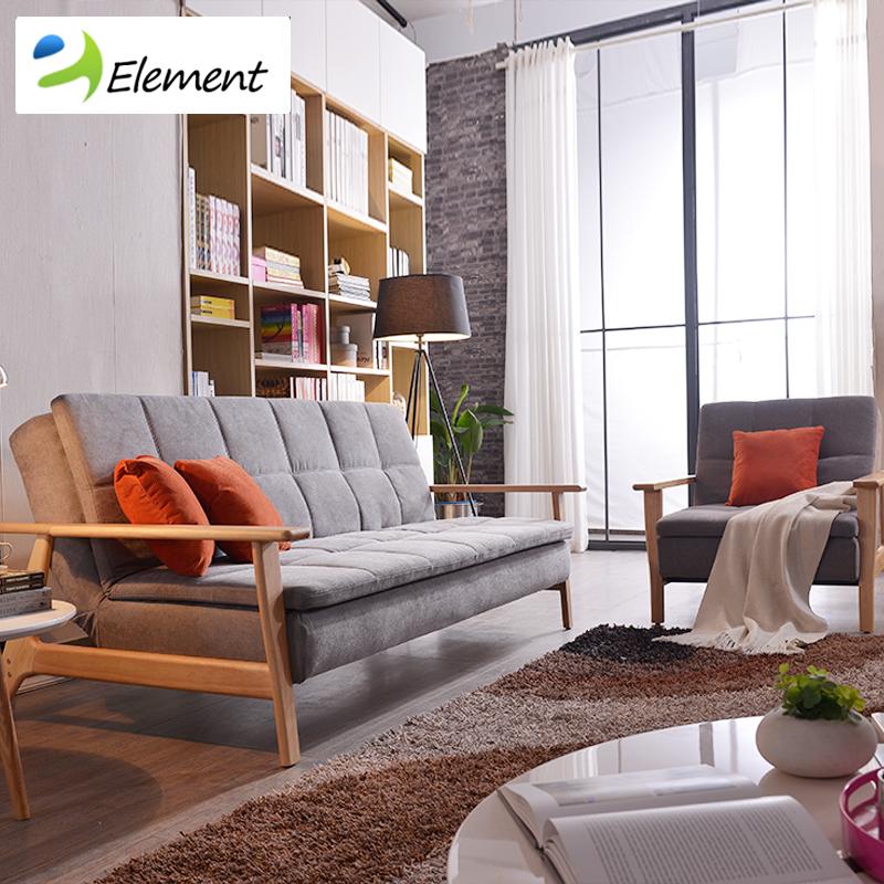 客厅书房布沙发 宜家设计师可拆洗沙发床