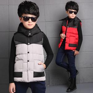 童装冬装 男童棉马甲背心加厚 韩版儿童外套大童坎肩马夹秋冬款潮