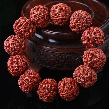 买一送一尼泊尔正宗大金刚菩提子手串五六瓣红皮肉纹手链男士佛珠