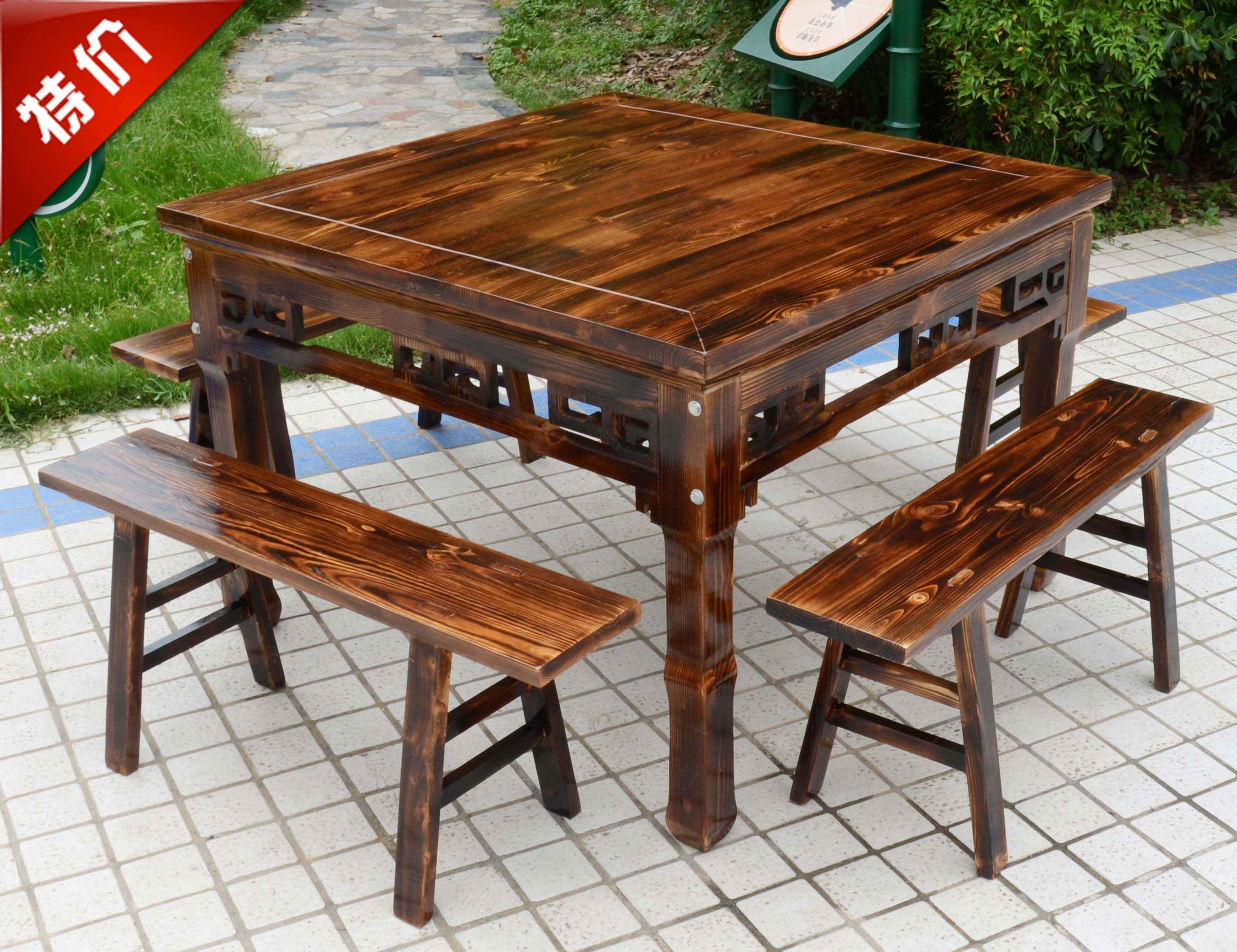 实木餐厅饭店餐桌椅组合
