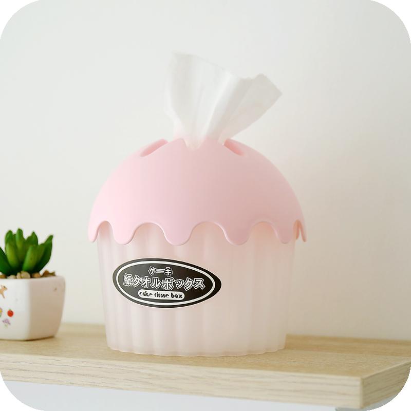 日本简约塑蛋糕造型客厅餐厅纸巾盒 纸巾抽 抽纸盒创意家用纸巾筒