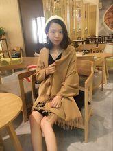 披肩保暖毛线围脖羊毛百搭 围巾女秋冬季学生加厚针织韩版 长款
