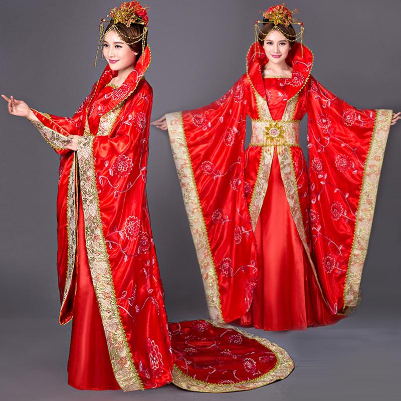 古装唐装汉服拖尾贵妃装皇后服装大明公主舞台演出服装影楼写真