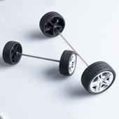 螃蟹王国 DIY科技制作 玩具车 配件 模型橡胶玩具车轮 轮胎多规格
