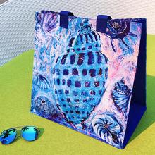 欧美油画防水折叠便携收纳大号容量手提旅行学生环保购物袋女包包