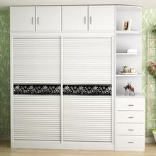 特价包邮宜家实木质组装简约现代板式家具推拉移门衣柜两门大衣橱