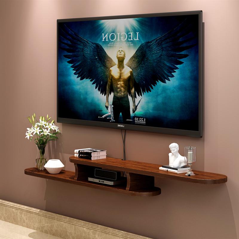 欧式客厅卧室壁挂电视柜电视机顶盒置物架搁板背景墙装饰架隔板
