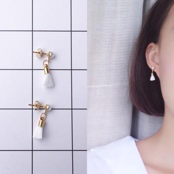 韓國珍珠MINI小流蘇耳釘耳環簡約氣質3色潮女配飾品 R075