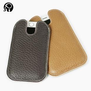 真皮手机包头层牛皮手机袋大小号苹果保护套4.7寸5.5寸手机保护壳