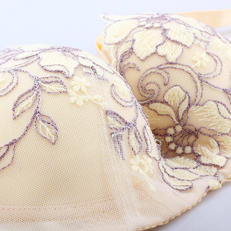 厚薄款聚拢调整型文胸罩收副乳 有无钢圈品牌刺绣性感女士内衣 - 性感内衣