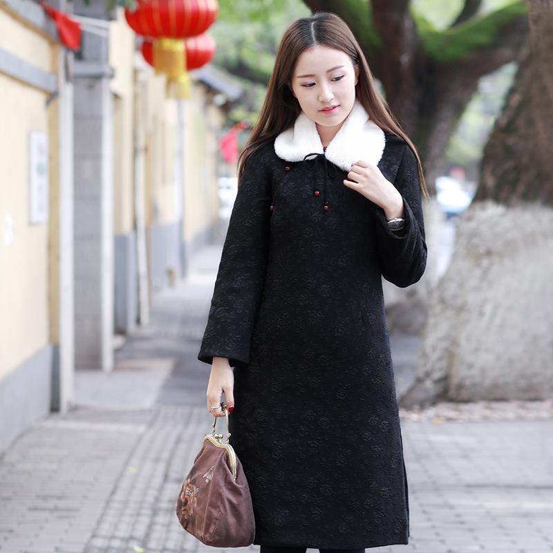 伶俐柠檬90517中国风原创复古女装民族风棉服文艺范棉衣冬装现货